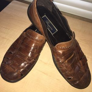 Bragano by Cole Haan Italian Woven Leather Loafers